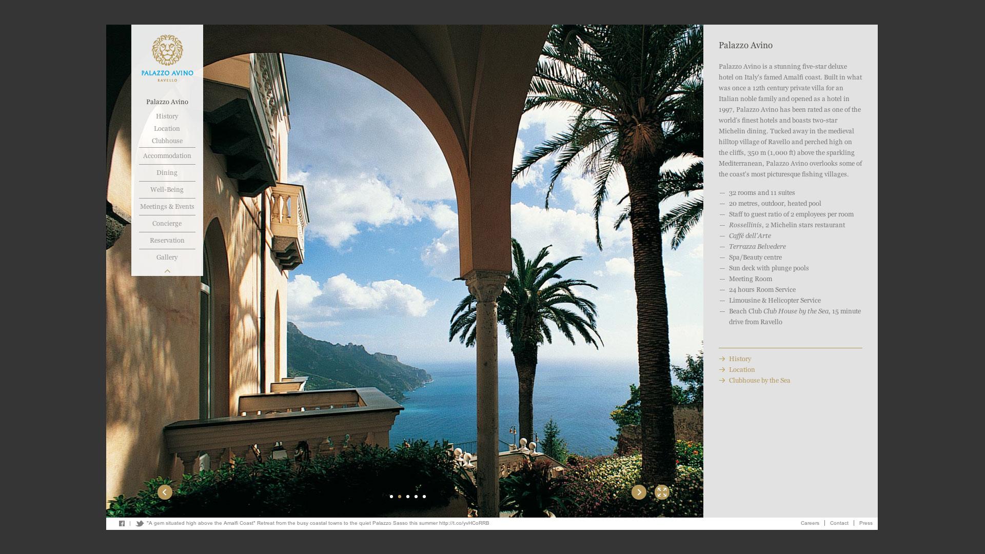 Palazzo Avino Website Thomas Manss Company