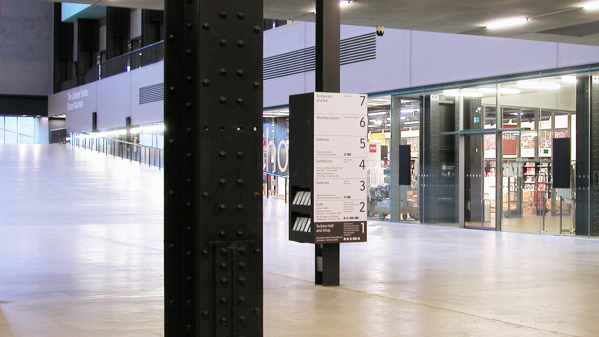 Tate Modern Signage Thomas Manss Company
