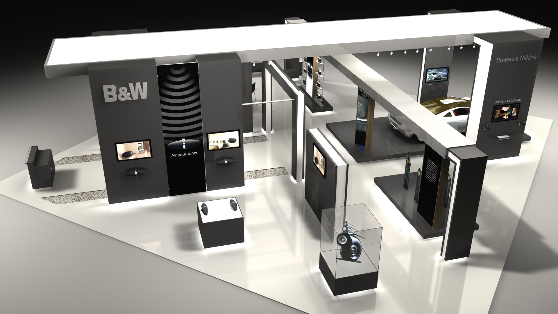 Modern Exhibition Stand Near Me : Bowers & wilkins ces las vegas thomas manss & company